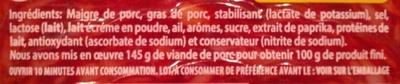 Chorizo - Ingrediënten