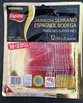 Jambon Serrano Espagnol Bodega - Product - fr