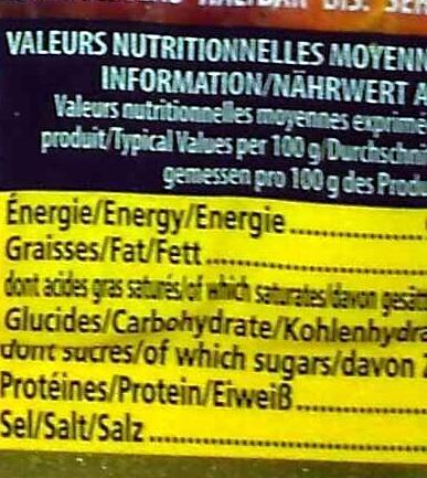 Jamón Serrano - Nutrition facts - en