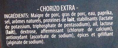 Tapas al minto Choricitos forts - Ingrédients