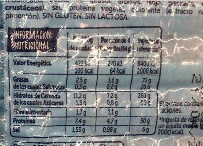 Tronquitos de mar - Informations nutritionnelles - es