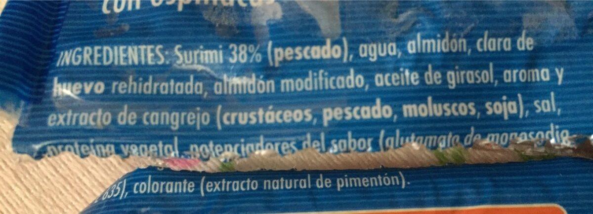 Tronquitos de surimi - Ingredientes - es