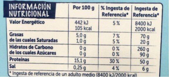 Centros de merluza pescanova - Información nutricional - es