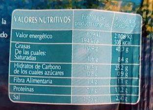 Chanquitos de surimi Enharinados - Información nutricional