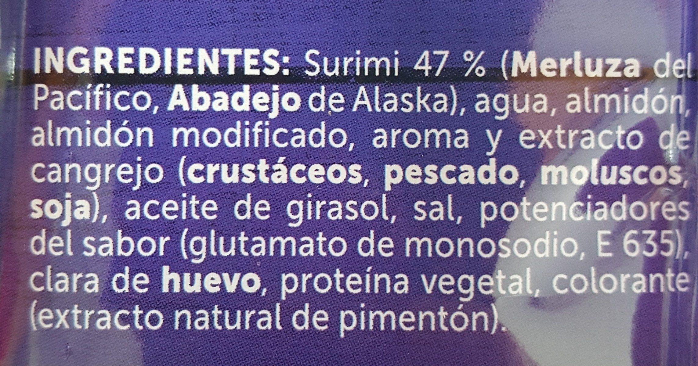 Palitos de Surimi - Ingrédients