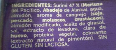 Palitos de Surimi - Ingredientes