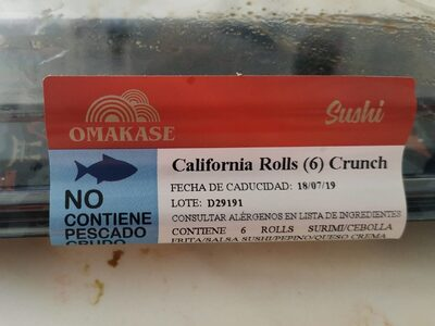 California rollos crunch - Product - es