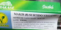 MAKIS (8) SURTIDO VEGANO - Información nutricional