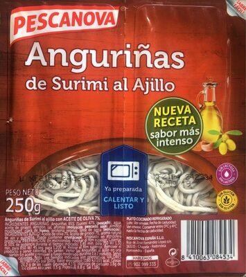 Anguriñas de surimi al ajillo