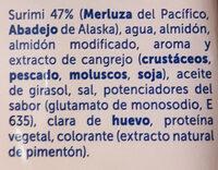 Palitos de mar - Ingredients