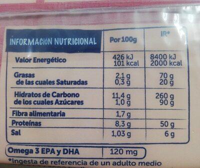 Palitos de mar - Nutrition facts