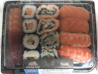 Sushi surtido 16 piezas