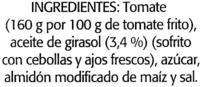 "Tomate frito ""Orlando"" - Ingredients"