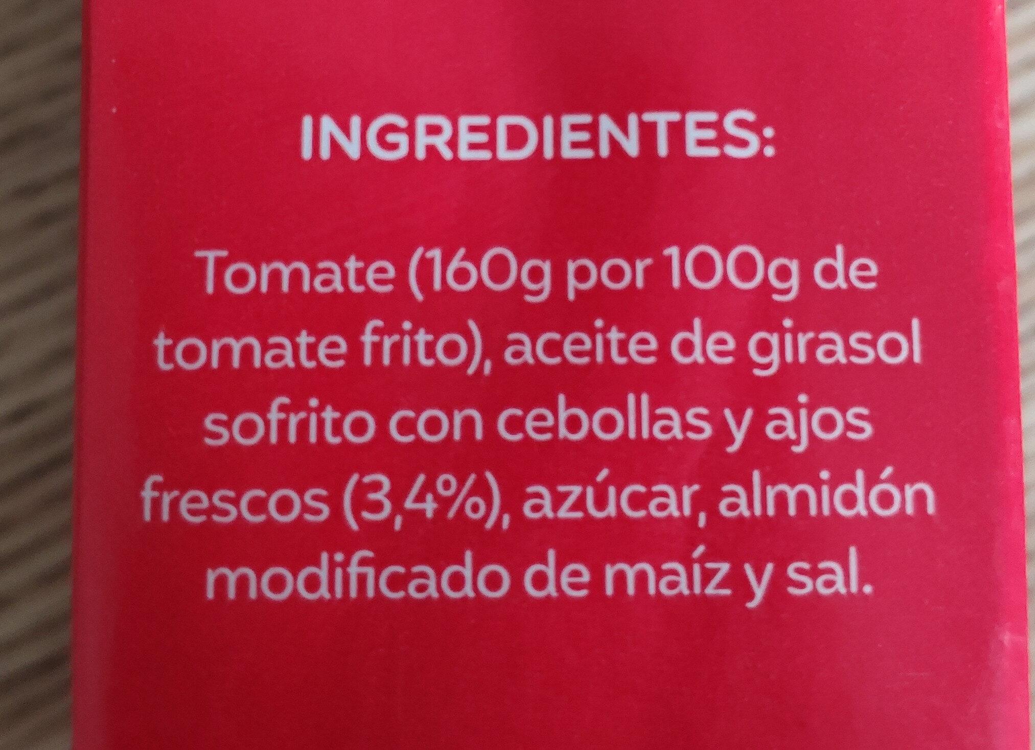 Tomate frito estándar - Ingredients - es