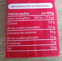 Tomate frito estándar - Informació nutricional - es