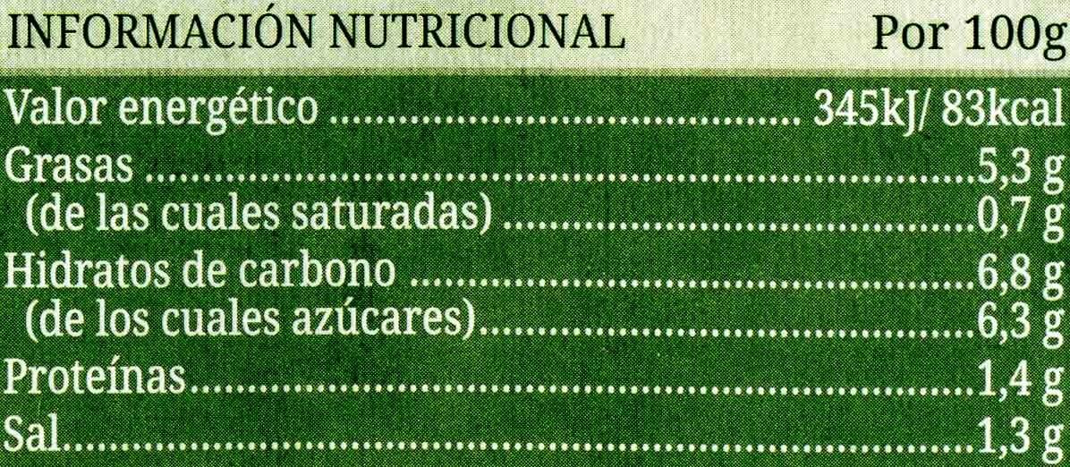 Pisto - Nutrition facts - es