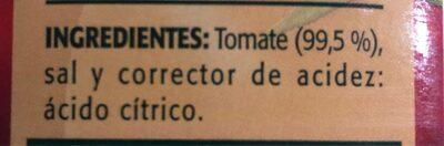 Tomate Natural triturado - Ingrédients