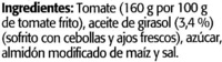 """Tomate frito """"Orlando"""" Pack de 3 - Ingredients"""