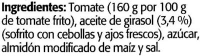 Tomate frito - Ingredientes