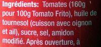 Tomato Frito - Ingrediënten - fr
