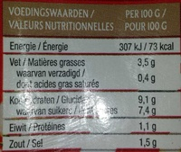 Tomato Frito - Informations nutritionnelles - fr