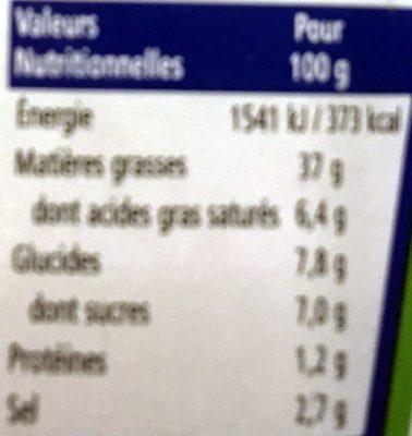 Sauce salade bleu cheese - Informations nutritionnelles - fr