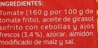 Tomate Frito Orlando - Ingredientes