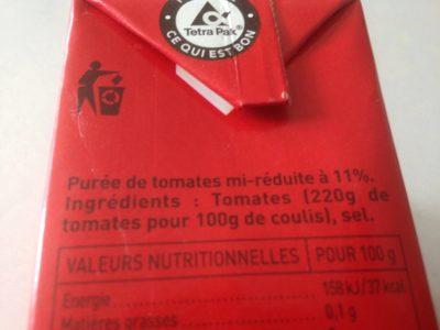 Le Coulis de Tomates HEINZ - Ingredients - fr
