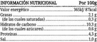 Lentejas guisadas - Información nutricional - es
