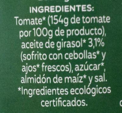 Tomate Frito Eco Frasco 500G - Ingredientes - es