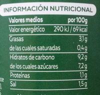 Tomate Frito Eco Frasco 500G - Información nutricional - es