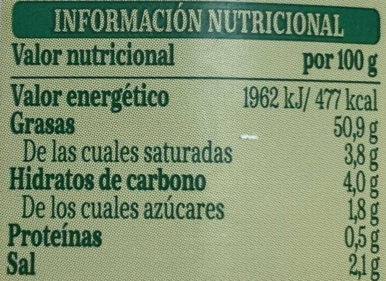 Salsa Bearnesa - Información nutricional