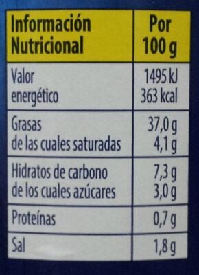 Mayonesa tradicional - Informació nutricional - es