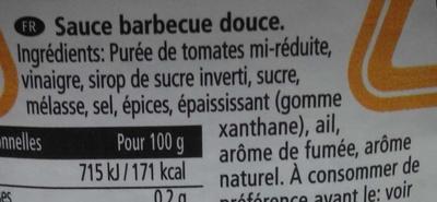 Barbecue Sweet (offre découverte) - Ingrédients - fr