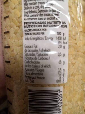 Piñones Gallo - Voedigswaarden