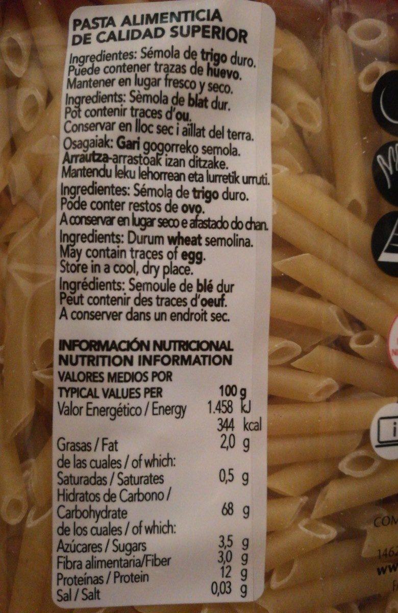 Gallo Pasta Macarrones Pluma N º 3 - Ingrédients
