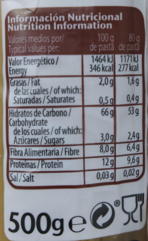 Nature Integral - Información nutricional - es