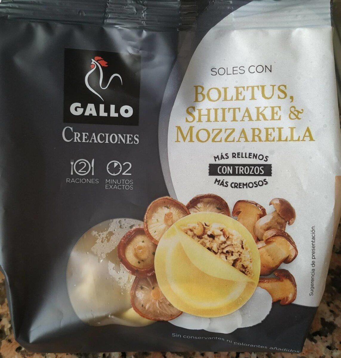 Soles con boletus, shiitake y mozzarella - Produit