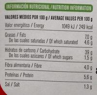 Vegan - Tortelloni de brócoli con relleno cremoso de espinacas - Información nutricional