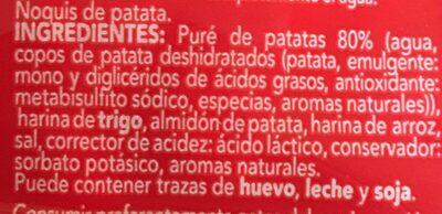 Gnocchis - Ingredients - fr