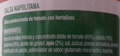 Napolitana - Ingredientes - es