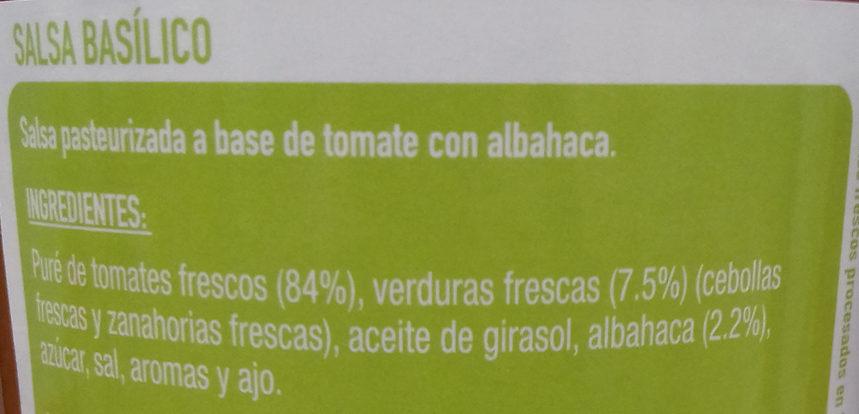 Basílico - Ingredients