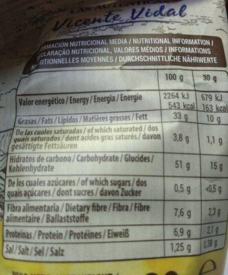 Patatas Fritas Vidal - Nutrition facts - fr