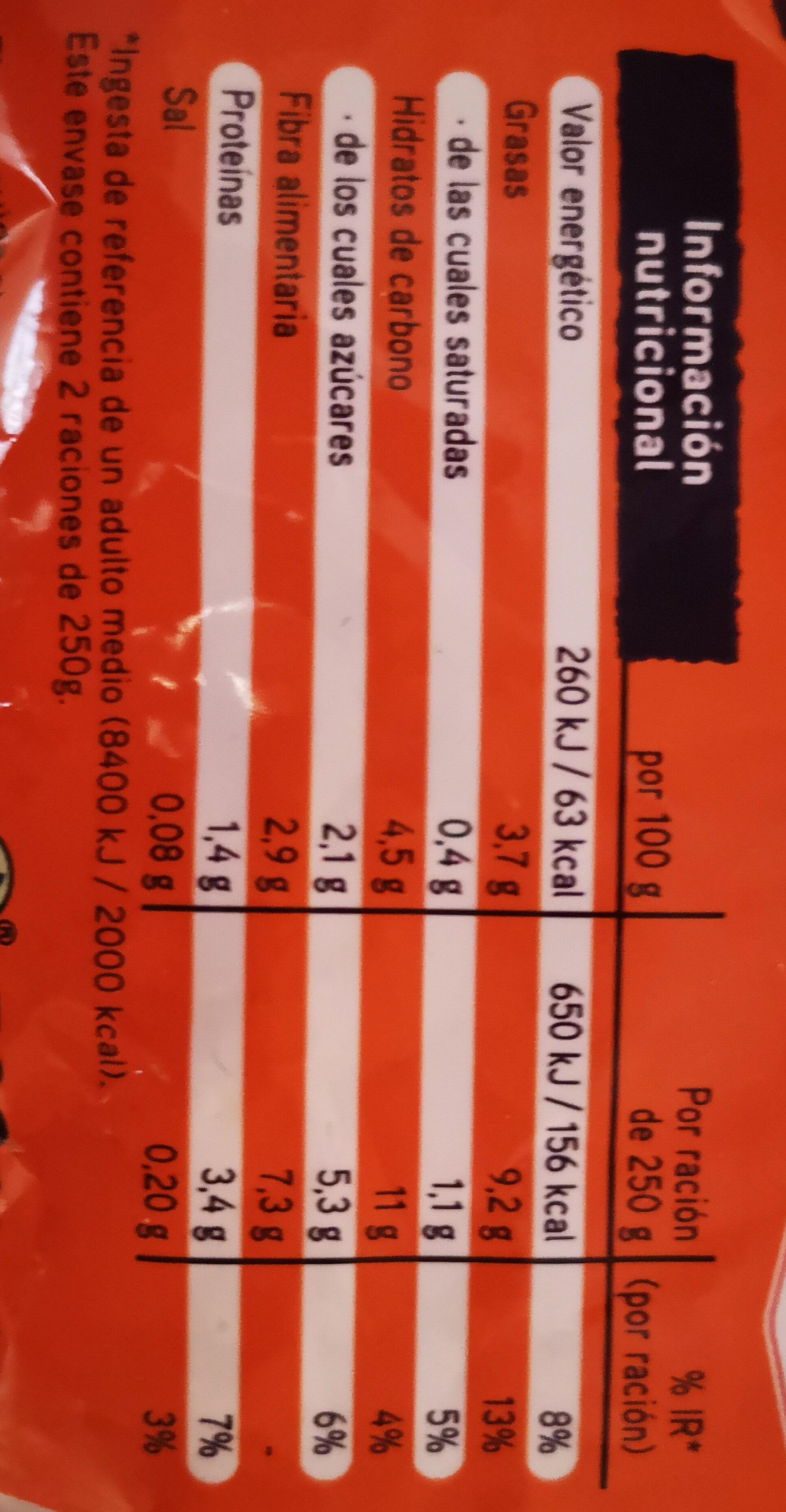 Salteado campestre - Informació nutricional - es