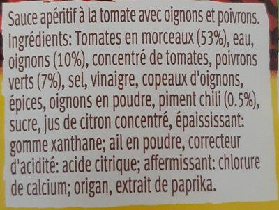 Salsa Dip Mild - Ingrediënten