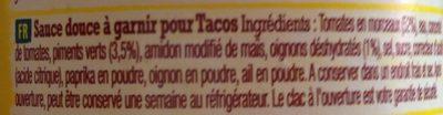 Taco Salsa - Inhaltsstoffe