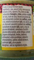 Sauce apéritif guacamole doux - Ingrédients - fr