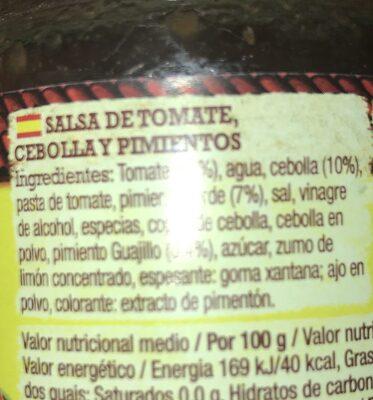 Old El Paso Salsa Mexicana - Ingrediënten - fr