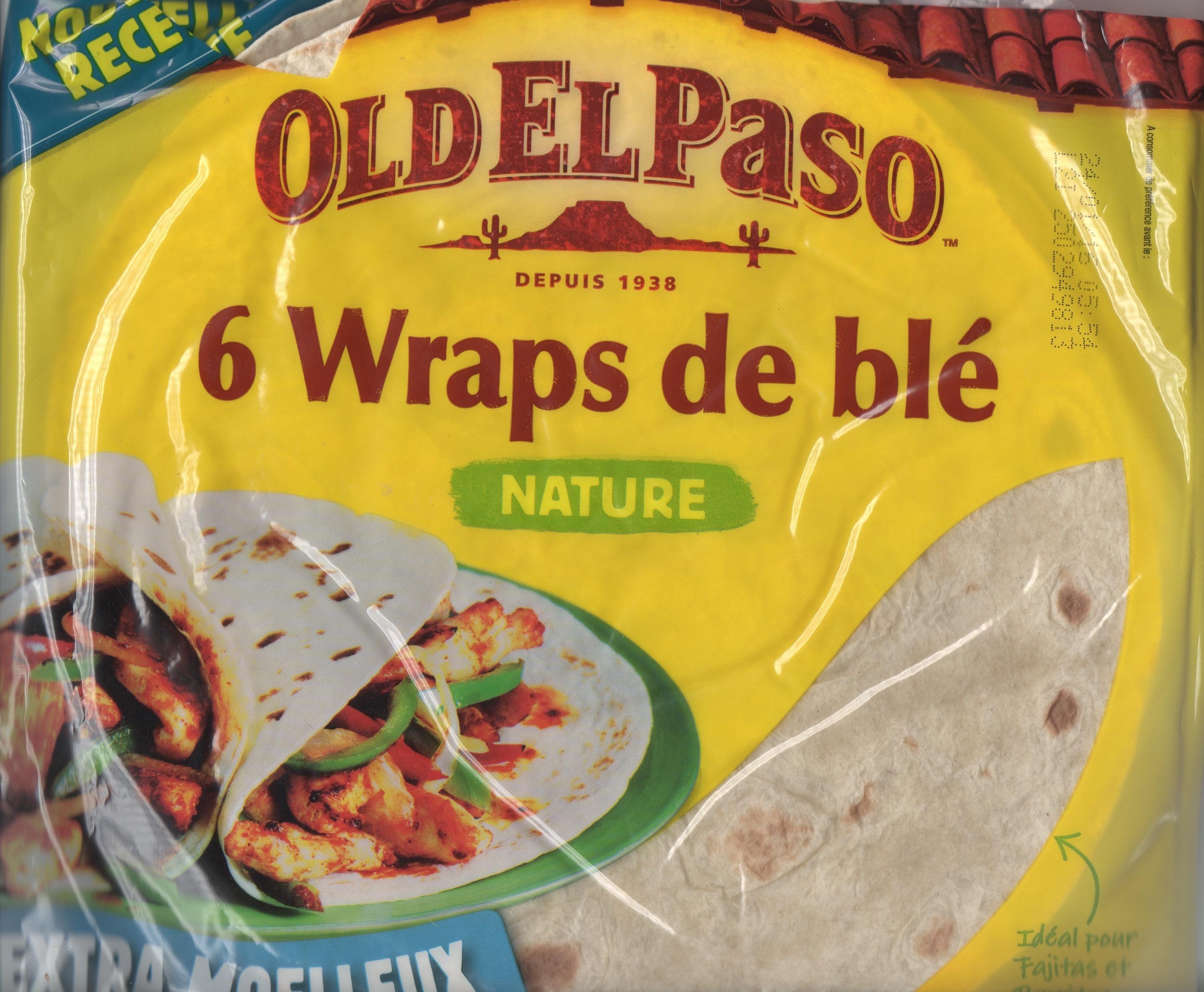 6 wraps de blé nature - Produit - fr