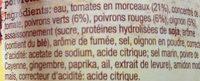 Sauce à cuisiner Fajitas Original - Ingredients - fr